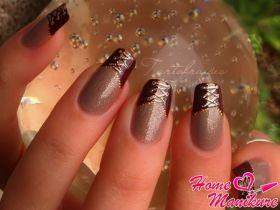 Обаятельный и элегантный дизайн ногтей с корсетом