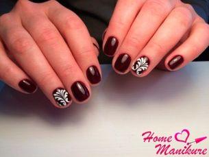 Дизайн ногтей с гель-лаком и акриловой пудрой