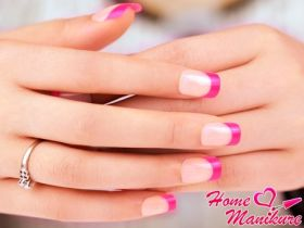 Очарование и нежность розового френча