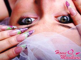 Стильные дизайны нарощенных ногтей с рисунками