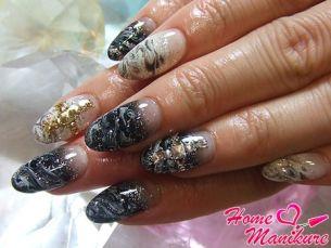 Величие мрамора в дизайне ногтей