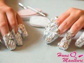 Как правильно снимать шеллак с ногтей?