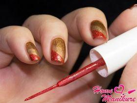 Яркие композиции на ногтях с помощью лака-лайнера