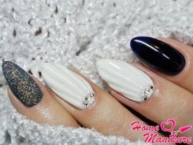 Стильный дизайн ногтей с имитацией ракушки