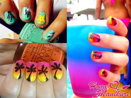 Морской маникюр: идеи пляжного дизайна ногтей в морской тематике (фото и видео)