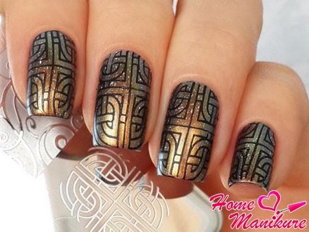 черно-золотая геометрия