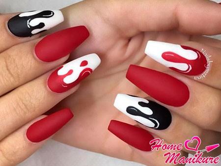 дизайн для матовых ногтей