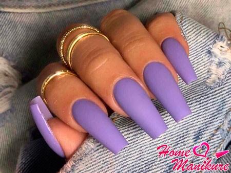 длинные фиолетовые ногти