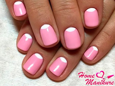 элегантные короткие ногти
