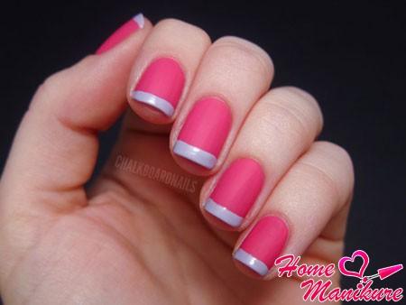 френч в розовых тонах
