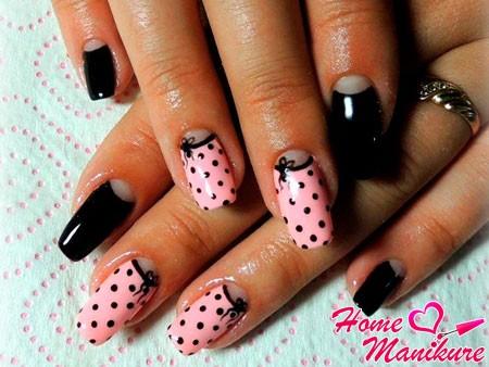 гороховый дизайн ногтей