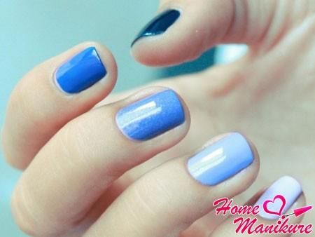 красивые ногти в стиле омбре