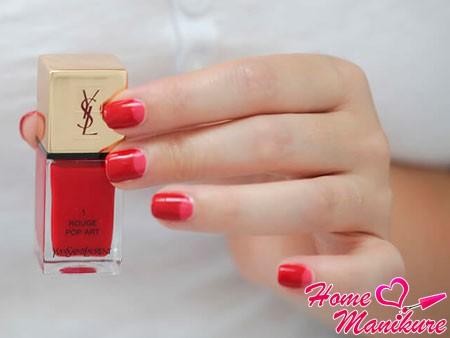 красно-розовые ногти