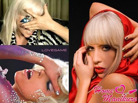 Леди Гага с Минкс маникюром