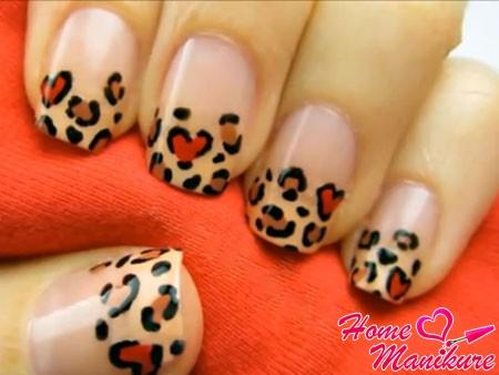 леопардовый френч в теплых тонах