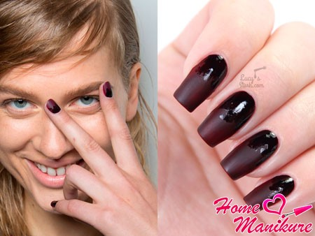матово-глянцевые ногти