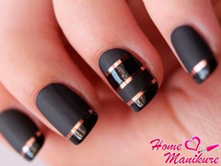 матово-глянцевый дизайн ногтей