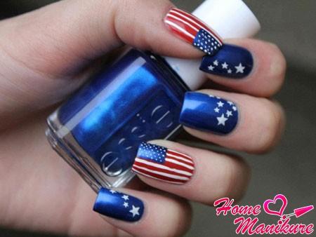 модный американский дизайн ногтей