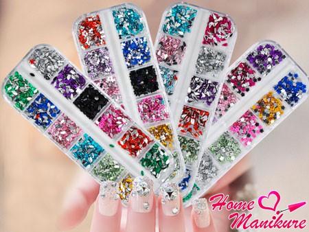 наборы страз для дизайна ногтей