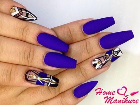 нарощенные ногти с дизайном