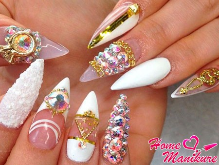 насыщенный дизайн ногтей