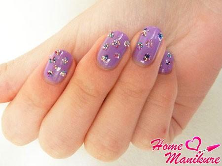 цветочки на ногтях из шариков