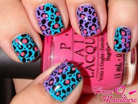необычный леопардовый дизайн ногтей