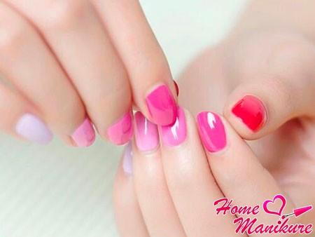 нежный дизайн в розовых тонах