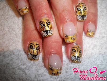 оригинальный тигровый нейл арт