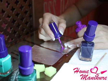 подготовка к градиентному маникюру