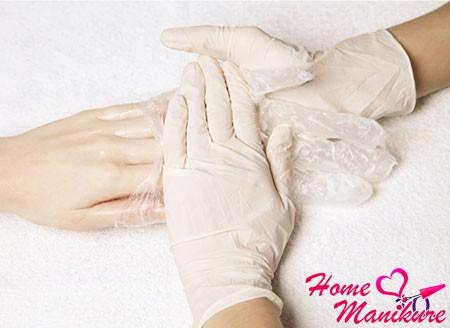 полное снимание перчаток