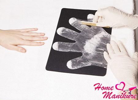 предварительная подготовка перчаток