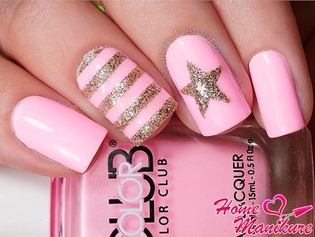 рисунки блестками на ногтях