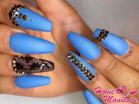 роскошный дизайн ногтей балерина