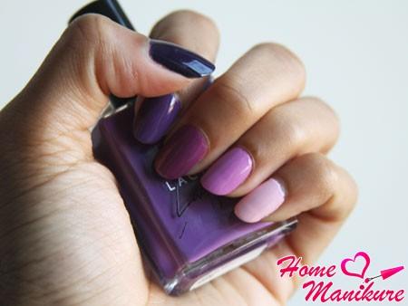 розово-фиолетовая гамма омбре