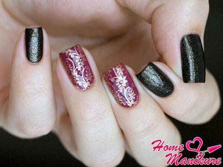 шикарный дизайн ногтей с цветочным узором