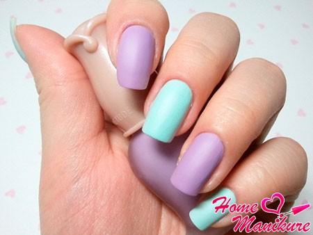 сочетание фиолетового и голубого