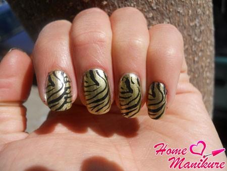 тигровый принт наклеек minx