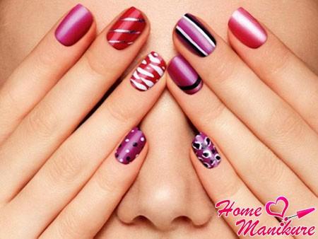 разные дизайны ногтей: