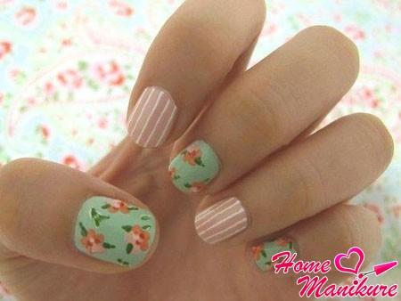 элегантный и нежный дизайн ногтей
