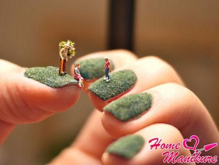 фирменный флок на ногтях от Ciate