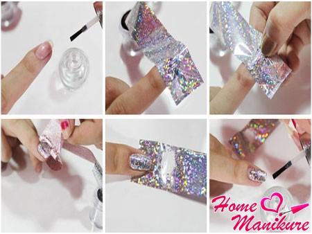 инструкция по нанесению переводной фольги на ногти