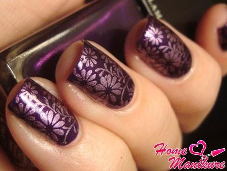 красивый дизайн ногтей для праздничного вечера