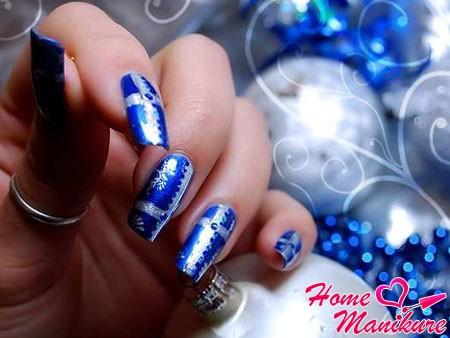 красивый дизайн ногтей на новый год 2014