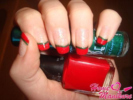 красно-зеленый френч на новый год