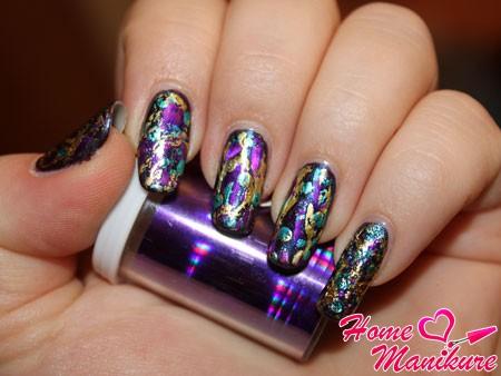 модная переводная фольга для ногтей