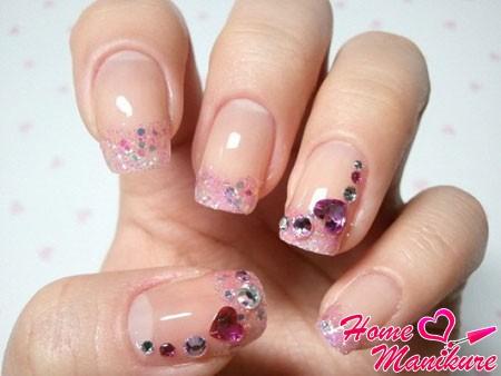 модный свадебный френч в розовых тонах