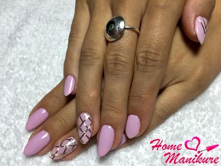 нежные фиолетовые ногти