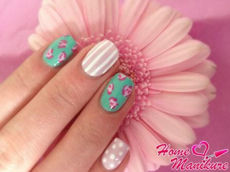 нежный дизайн ногтей шилаком