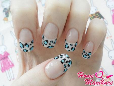 нежный и элегантный леопардовый маникюр